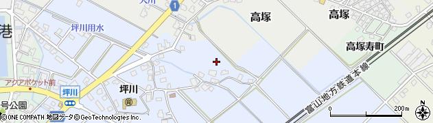 富山県滑川市坪川周辺の地図