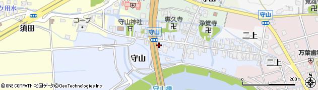富山県高岡市守山周辺の地図