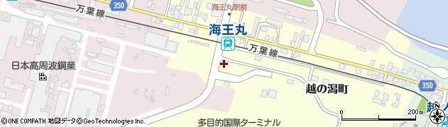 富山県射水市越の潟町周辺の地図