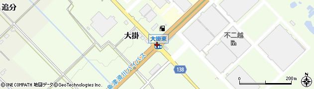 大掛東周辺の地図
