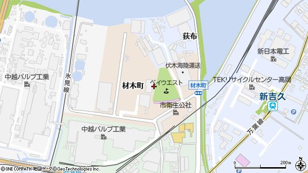 〒933-0008 富山県高岡市材木町の地図