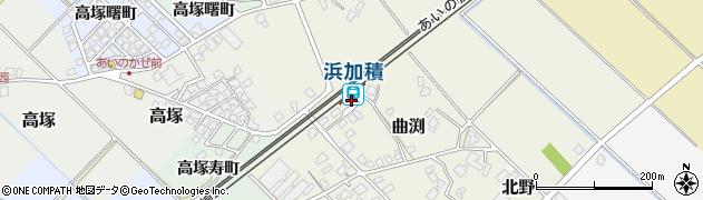 富山県滑川市周辺の地図