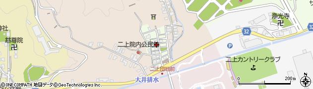 富山県高岡市二上周辺の地図