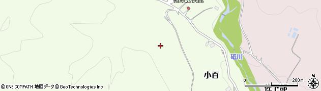 栃木県日光市小百(楢原)周辺の地図