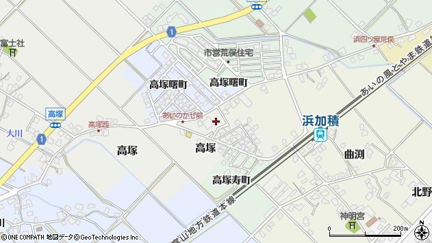 〒936-0013 富山県滑川市高塚新市営住宅の地図