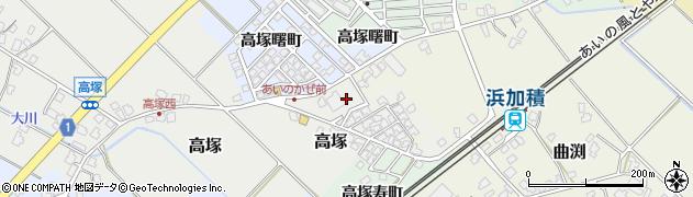富山県滑川市高塚新市営住宅周辺の地図