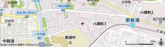 富山県射水市八幡町3丁目周辺の地図