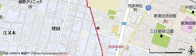 富山県射水市西新湊周辺の地図