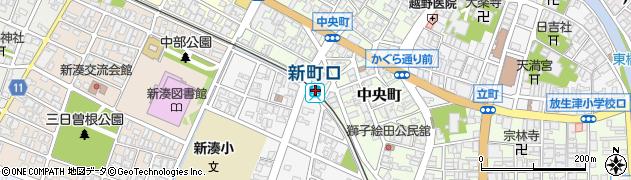 富山県射水市周辺の地図