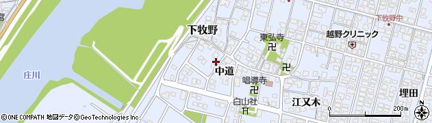 富山県高岡市下牧野(中道)周辺の地図
