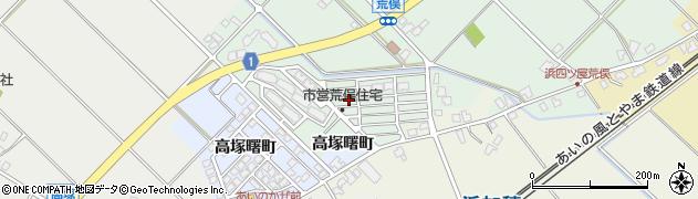 富山県滑川市荒俣新町周辺の地図