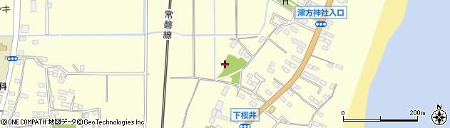 茨城県北茨城市中郷町(下桜井)周辺の地図