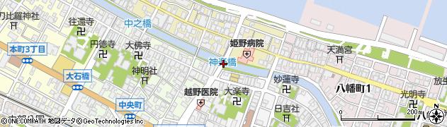 神楽橋周辺の地図