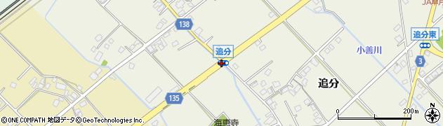 追分周辺の地図