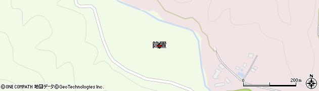 栃木県日光市小百(筒置)周辺の地図