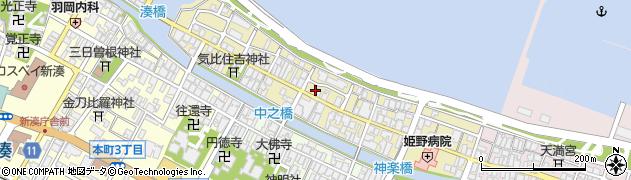 富山県射水市放生津町周辺の地図