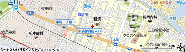 富山県射水市本町1丁目周辺の地図