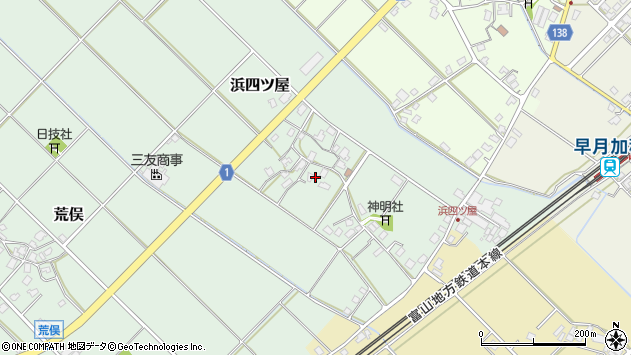 〒936-0005 富山県滑川市浜四ツ屋の地図