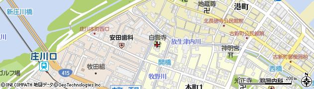 白雲寺周辺の地図
