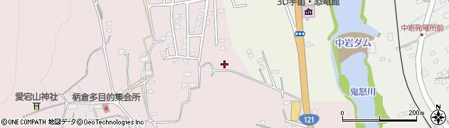 栃木県日光市柄倉周辺の地図