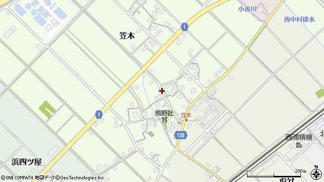 〒936-0004 富山県滑川市笠木の地図