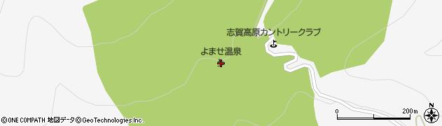よませ温泉スキー場周辺の地図