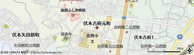 富山県高岡市伏木古府元町周辺の地図