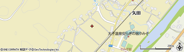茨城県大子町(久慈郡)矢田周辺の地図