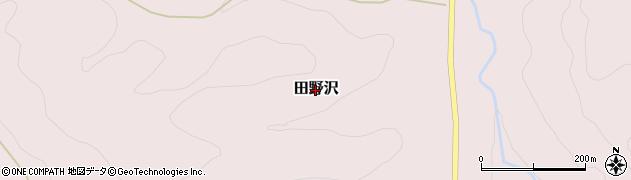 茨城県大子町(久慈郡)田野沢周辺の地図