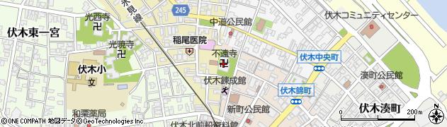 不遠寺周辺の地図