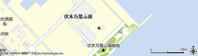 富山県高岡市伏木万葉ふ頭周辺の地図
