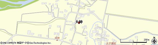 栃木県大田原市大神周辺の地図