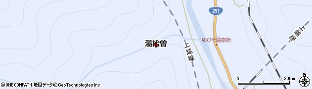 群馬県みなかみ町(利根郡)湯桧曽周辺の地図