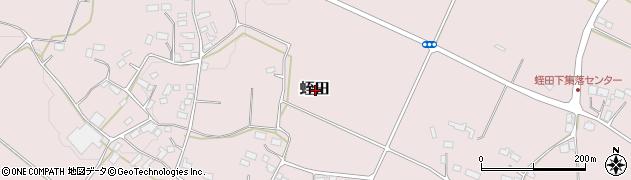 栃木県大田原市蛭田周辺の地図
