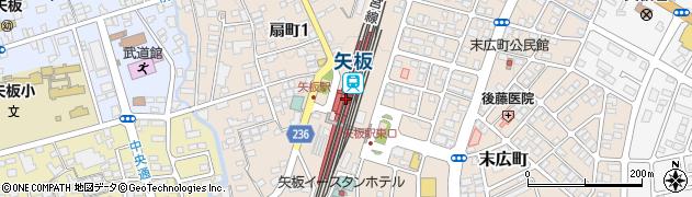 栃木県矢板市周辺の地図