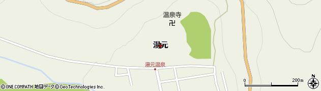 栃木県日光市湯元周辺の地図