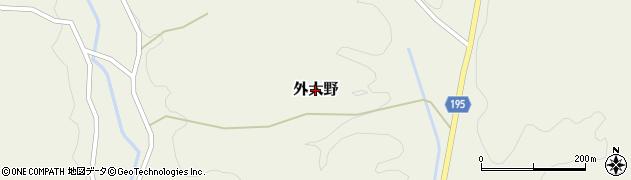 茨城県大子町(久慈郡)外大野周辺の地図