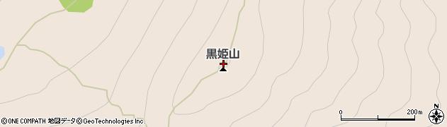 黒姫山周辺の地図