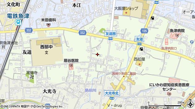 〒937-0806 富山県魚津市友道の地図