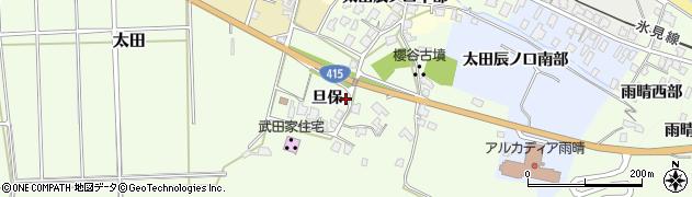 富山県高岡市太田(旦保)周辺の地図
