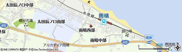 富山県高岡市雨晴西部周辺の地図