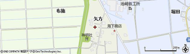 富山県氷見市矢方周辺の地図