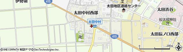 富山県高岡市太田中村西部周辺の地図