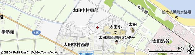 富山県高岡市太田中村東部周辺の地図