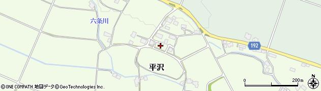 栃木県大田原市平沢周辺の地図