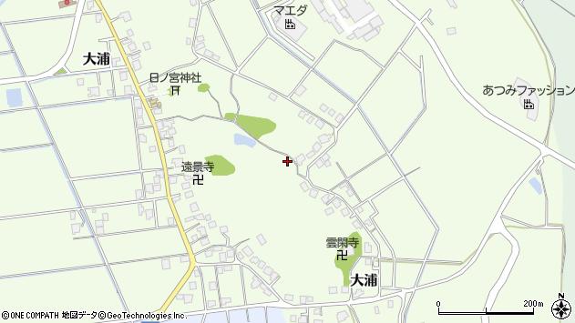 〒935-0103 富山県氷見市大浦の地図