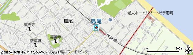 富山県氷見市周辺の地図