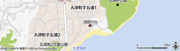 灯台周辺の地図