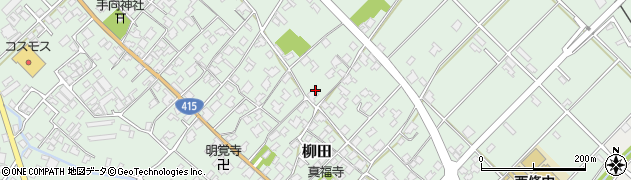 富山県氷見市柳田周辺の地図