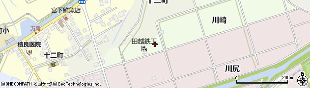 富山県氷見市川崎周辺の地図